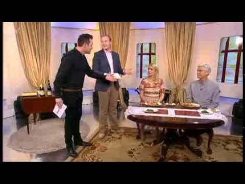 this morning - Etiquette expert William Hanson quizzes Philip Schofield and Holly Willoughby on ITV daytime's This Morning.