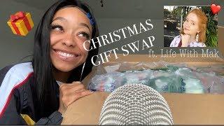 ASMR | CHRISTMAS GIFT SWAP W/ LIFE WITH MAK 🎁🎄