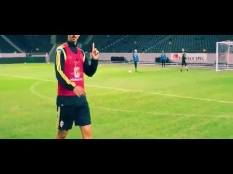 Zlatan Ibrahimovic scores a brilliant goal at Sweden training