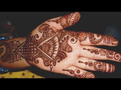 How To Make Simple Henna Mehendi Design Pattern/Easy Mehndi Step