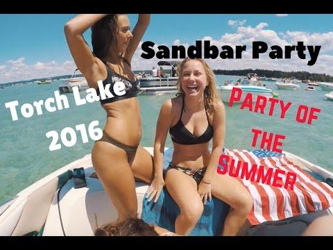 Ultimate 4th of July Sandbar Party | DJI Phantom 3 Drone | GoPro 4 | Torch Lake | Canon T5i