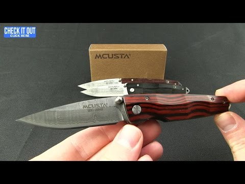 "Mcusta Gentleman's Liner Lock Knife Stamina Wood (2.75"" Damascus) MC-54DR"