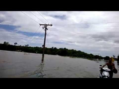 Enchente de 2013 em Linhares Es - Lagoa Nova e Rio Doce