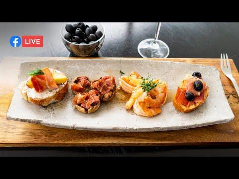 Tapas Españolas   Clase de cocina en vivo