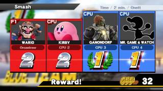 Controlling Wario in Results Screen