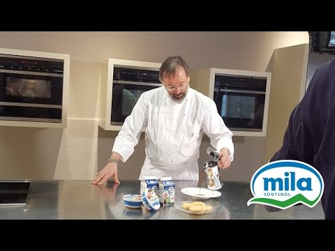 **Michelin Chef Norbert Niederkofler using Mila mascarpone for tiramisù
