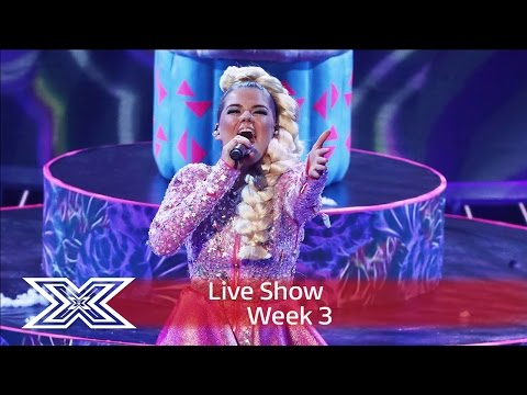 Video Saara Aalto belts out Bjork's Oh So Quiet |  | Live Shows Week 3 | The X Factor UK 2016 download in MP3, 3GP, MP4, WEBM, AVI, FLV January 2017