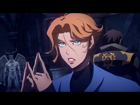 Trevor and Sypha vs. Hell Demons | Castlevania Season 3