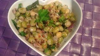 Dried Green Peas Sundal Or Pachai Pattani Sundal