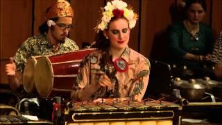 The Javanese Gamelan Ensemble (http://www.niu.edu/music/ensembles/worldmus.shtml) performs Singa Nebah (The Pouncing Lion) by Pelog Barang.