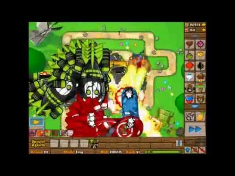 Bloons Tower Defense 5 Round 105-130 + Tower With 10 Million Pops  HD
