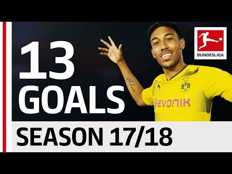 Pierre-Emerick Aubameyang - All Goals so far 2017/18 (видео)