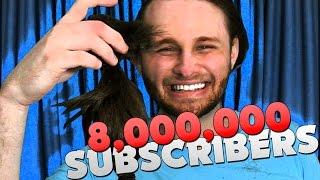 I FINALLY CUT MY HAIR!! 8,000,000 SUBSCRIBERS!!