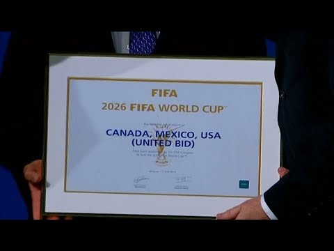 FIFA votes to award 2026 World Cup bid to US, Canada and Mexico