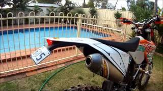 9. FMF EXHAUST SOUND ON KTM 450 WITH MEGA BOMB