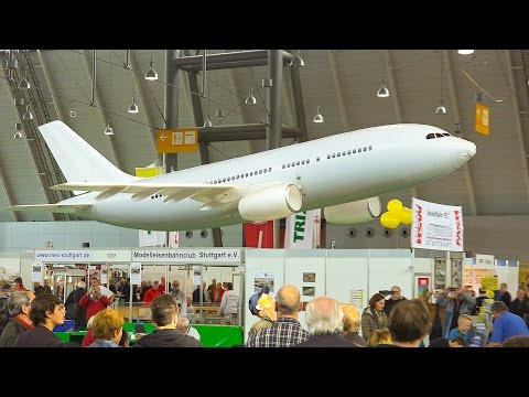 Incredible RC Model Airbus A-320 Flying Indoors