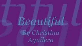 Christina Aguilera Beautiful Lyrics YouTube