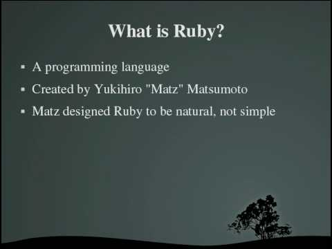 Programming With Ruby Episode 1, Introduction