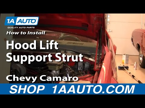 How To Install Replace Hood Lift Support Struts 82-92 Chevy Camaro Pontiac Trans Am 1AAuto.com