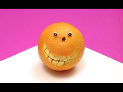 Comment faire une orange souriante?