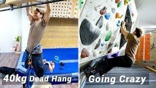 FINGER POWER + 40KG - FULL DAY OF TRAINING AND CLIMBING by Eric Karlsson Bouldering