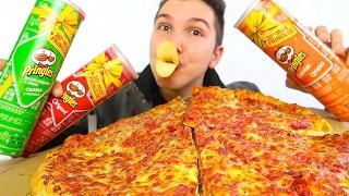 Pizza & Chips • MUKBANG