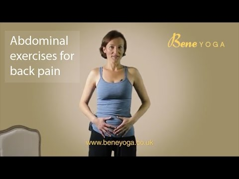 abdominal strengthening exercises for back pain