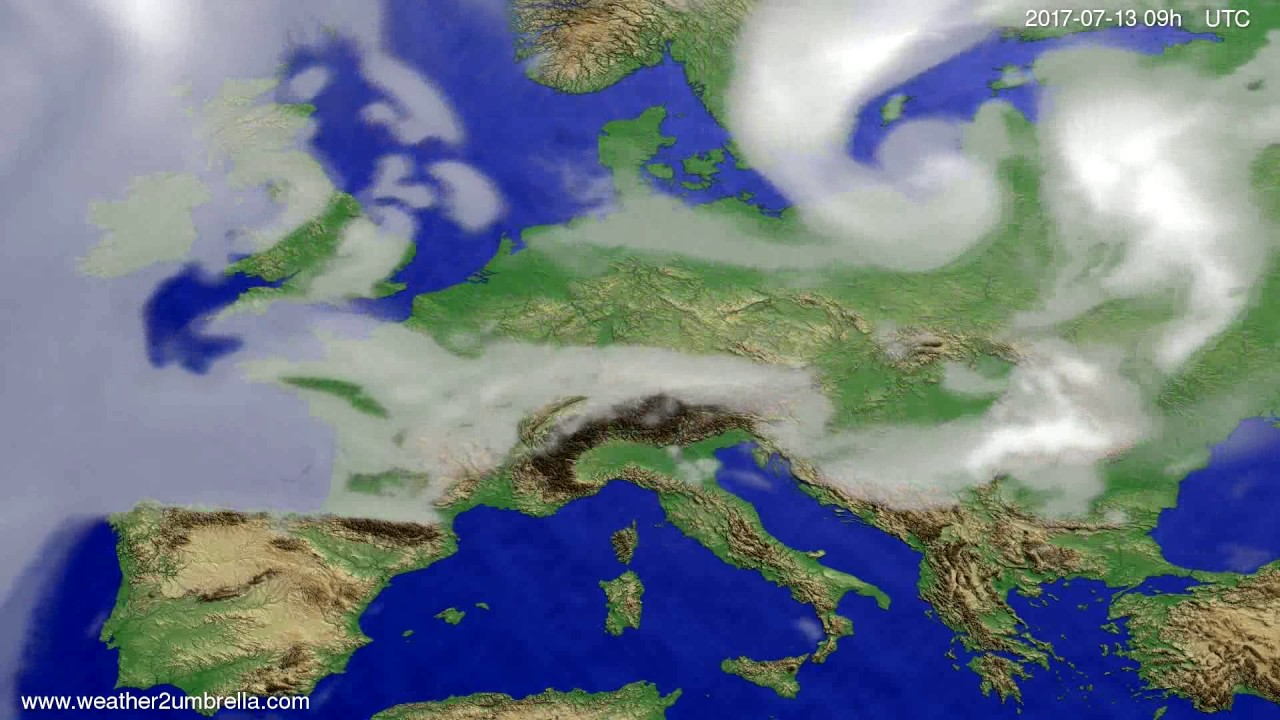 Cloud forecast Europe 2017-07-09