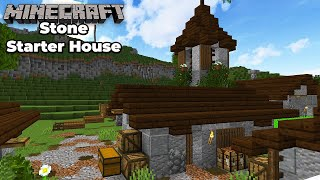 Minecraft 1.15 Stone Survival Starter House Tutorial