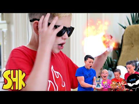 The Brief Case Mixup NINJA KIDZ TV TOY CHALLENGE   SuperHeroKids Funny Family Videos Compilation