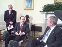 President Bush meets with Masoud Barzani, president of Kurdistan Regional Government, in Oval Office.