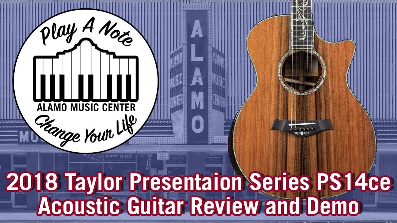2018 Taylor Presentation Series PS14ce Grand Auditorium – Acoustic Guitar Review and Demo