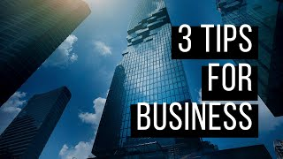 3 Tips For Business | Renee Frey