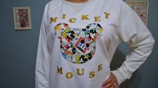 DIY Mickey Mouse SweatShirt Tutorial - YouTube