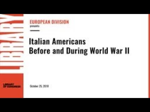 Italian-Americans Before and During World War II