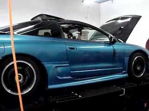 Eagle Talon falls off a dyno in epic fail