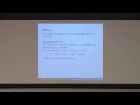 Yasufumi Hashimoto - Cryptanalysis of the Multivariate Signature Scheme Proposed in  PQCryptop 2013