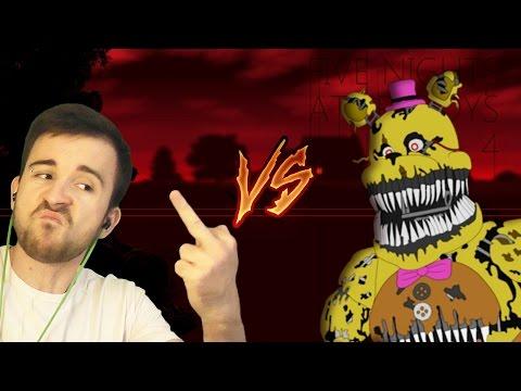 ЮДЖИН VS. FREDBEAR - FNAF 4 [Ночь 4| Ночь 5] Концовка (видео)
