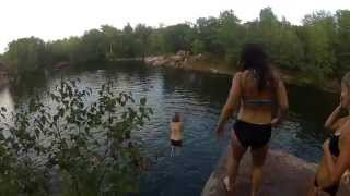 St. Cloud (MN) United States  city photos gallery : Quarry St. Cloud MN - Cliff Jumping [HD]