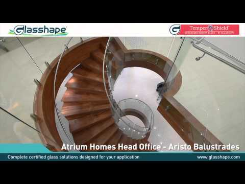 Curved Glass Staircase Balustrade - Glasshape