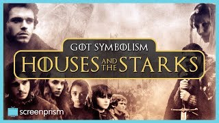 """Find out more about the deeper meaning of the house symbols on Game of Thrones, starting with the Starks: their grey & white, their motto, """"Winter is Coming,"""" and their animal, the direwolf. Watch our video on The Lannisters: https://youtu.be/aNnpJ6BAvzAWatch our Rhaegar Targaryen Character Study: https://youtu.be/WAJ073SKoH8Sign up to our email newsletter for updates on new videos, fun film trivia, giveaways, longform content, events and more! http://bit.ly/2oVVB1QIf you like this video, subscribe to our YouTube channel for more: http://www.youtube.com/c/ScreenprismLike ScreenPrism on Facebook: http://www.facebook.com/screenprismFollow ScreenPrism on Twitter: http://twitter.com/screenprismVisit ScreenPrism.com: http://screenprism.com/"""