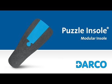 Puzzle Insole® Modular Insole - Developed for plantar pressure redistribution