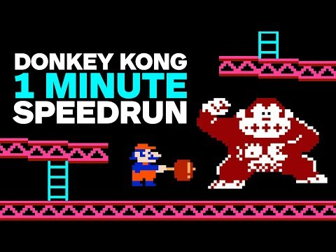 Original Donkey Kong Finished In 1 Minute (Speedrun) (видео)