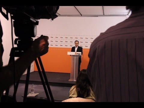 Marco António Costa em Conferência de Imprensa após reunião com os TSD