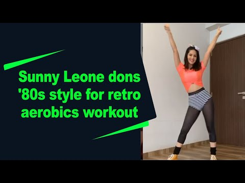 Sunny Leone dons 80s style for retro aerobics workout