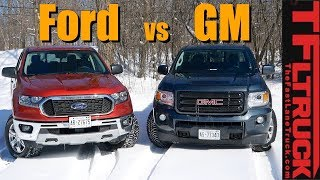 What's the Best American Midsize Truck? Ford Ranger FX4 vs GMC Canyon All Terrain by The Fast Lane Truck