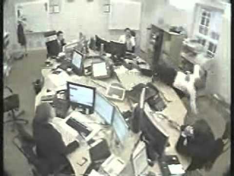Beware before disturbing someone in office.....