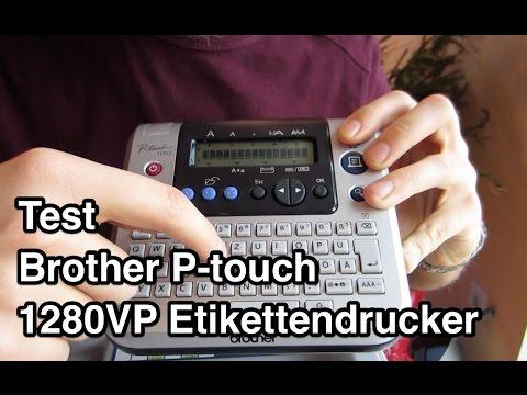Test Brother P-touch 1280 Beschriftungsgerät | Brother Etikettendrucker | Etikettendrucker Test