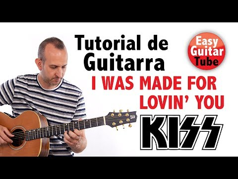 I Was Made For Lovin' You - Kiss // Tutorial De Guitarra Fingerstyle + TABS (cómo Tocar)
