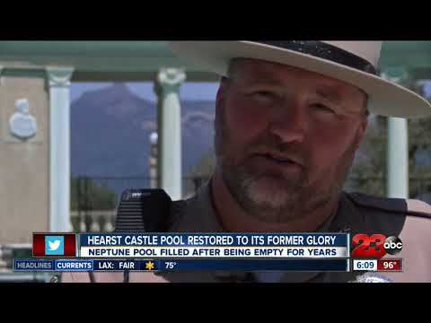 Hearst Castle pool filled after four empty years